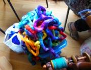 A colourful bag of fibre